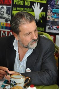 Luis Menéndez  en la misión de la FIP en Mexico DF